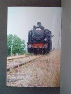 Locomotive à Vapeur CR ANF 16,457 Entre Connéré Et Saint Calais En Juin 1965 Tirage De La Photo En 2006 - Trains