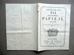Sanctissimi Domini Nostri Pii Divina Providentia Papae IX Aug. Taurinorum 1870 - Vecchi Documenti