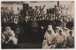 Carte Photo Militaria Hôpital Auxiliaire 58 LA FRETTE Isère Médecin Chef Personnel Et Soldats 29/08/1915 - Guerre 1914-18
