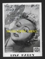 AUTOGRAPHE - LINA MARGY (1909-1973) CHANTEUSE FRANCAISE - PHOTO HARCOURT FORMAT 13.5 X 10 CM - Foto Dedicate