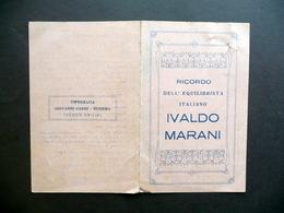 Ricordo Dell'Equilibrista Italiano Ivaldo Marani Elenco Esercizi Gabbi Rubiera - Vecchi Documenti