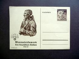 Cartolina Postale Winterhilfswerk Des Deutschen Volkes Februar 1938/39 Originale - Unclassified