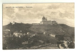 "5463 "" SALUTI DA SUPERGA-PANORAMA ""-CART. POST.  SPED. 1923 - Saluti Da.../ Gruss Aus..."