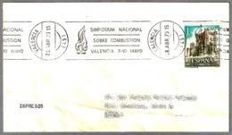 SIMPOSIUM NACIONAL SOBRE COMBUSTION - National Symposium About Combustion. Valencia 1973 - Firemen