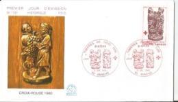 Enveloppe Premier Jour - FDC -  1980 - Croix Rouge - FDC