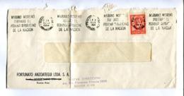 """""""MARIANO MORENO PREPARO EL PROVENIR REPUBLICANO DE LA NACION"""" 1964. ARGENTINA ENVELOPE BANDELETA PARLANTE - LILHU - Argentinien"""