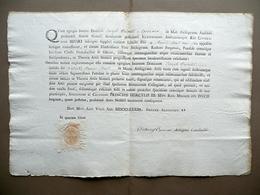 Patente Esercizio Notarile Castelli Spezzano Modena 1783 Ercole III Sigillo - Vecchi Documenti