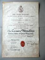 Patente Ordine Militare Ospitaliero S. Giorgio 1949 Autografo Visconti Prasca - Vecchi Documenti