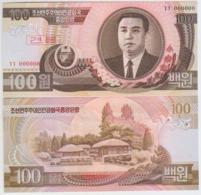 Korea North 100 Won 1992 Pick 43cS UNC 0000000 - Corea Del Nord