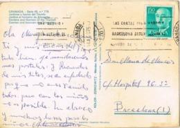 34145. Postal GRANADA 1975. Jardines Y Fuente Del Triunfo - 1931-Hoy: 2ª República - ... Juan Carlos I