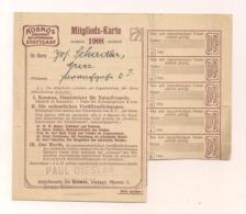 Mitglieds-Karte - Jahr 1908 - Kosmos Gesellschaft Der Naturfreunde Stuttgart - Stelle Graz - Unclassified