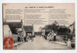 - CPA SAINT-CLÉMENT (89) - Un Festin 1918 (belle Animation) - Edition Poulain-Rocher - - Saint Clement
