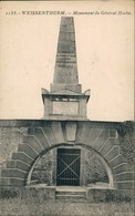 Weißenthurm Weissenthurm Denkmal Monument Du Général HOCHE 1910 - Allemagne
