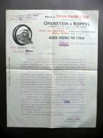 Orensterin & Koppel Berlino Materiali Per Ferrovie Portatili E Fisse Anni '20 - Vecchi Documenti