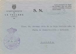 34147. Carta S.N. Franquicia Ayuntamiento LA TALLADA (Gerona) 1959. Franquicia Alcaldia - 1931-Hoy: 2ª República - ... Juan Carlos I