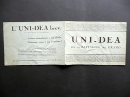 Uni-Idea Per La Battaglia Del Grano Polvere Fertilizzante Anni '30 Agricoltura - Vecchi Documenti