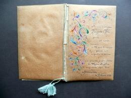 Libretto Manoscritto Decorato 25 Anni Di Matrimonio Sr. Maria Angelica 1939 - Vecchi Documenti