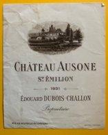 11879 - Château Ausone 1931 St-Emilion - Bordeaux