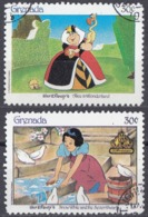 GRENADA - Lotto Composto Da 2 Valori Usati Riproducenti Personaggi Di Walt Disney; Michel 1634 E 1672. - Fiabe, Racconti Popolari & Leggende