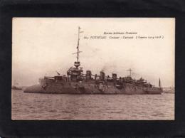 BATEAUX  CPA PHOTO CROISEUR -CUIRASSE POTHUAU  Année 1914-1918   état Correct - Guerre