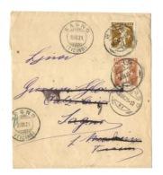 Schweiz Suisse 1921: Streifband Wrapper Fils De Tell-Knabe 3c Orange Zu 123III Mi 111 Yv 134 O SAGNO 19.III.21 (TICINO) - Interi Postali