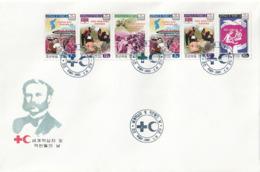 NORTH KOREA - COREA DEL NORTE - FDC - 2002 Red Cross And Red Crescent - BOOKLET - Corea Del Norte