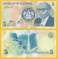 Lesotho 5 Maloti P-10 1989 UNC - Lesotho