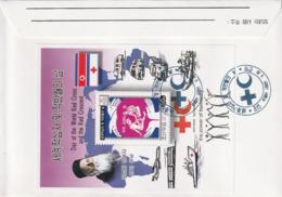 NORTH KOREA - COREA DEL NORTE - FDC - 2002 Red Cross And Red Crescent - Minisheet + Entire Aerogram - Corea Del Norte