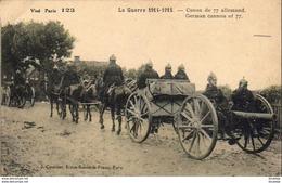 MILITARIA  GUERRE 1914- 18  Canon De 77 Allemand  ..... - War 1914-18