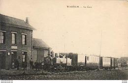 D59  WARHEM  La Gare  ............ Avec Train En Gare - France