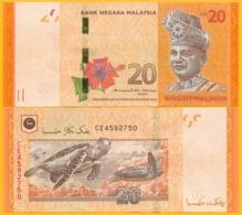 Malaysia 20 Ringgit P-54b 2011 UNC Banknote - Malaysia