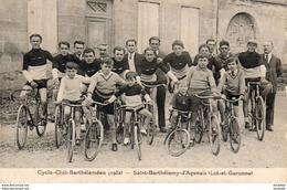 D47  SAINT BARTHÉLÉMY  ......... Cyclo Club Barthéléméen ( 1932 )  Carte Peu Courante - Cycling