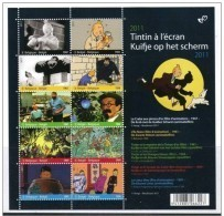 BLOK 192** Kuifje Op Het Scherm** - Bloc Tintin à L'écran MNH 4165/74** 10 Timbres Differentes - Blocks & Sheetlets 1962-....