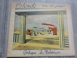 Oostende   *  (Promotiefolder) Ostende, Reine Des Plages  - Portique Du Solarium - René Hansoul - Dépliants Touristiques
