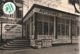 73 - Très Belle Carte Postale Semi Moderne Dentelée De  AUTOCARS CARRIERE A Aix Les Bains - Aix Les Bains