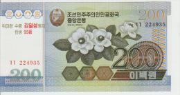 Korea North 200 Won (2007) Pick 54 UNC - Korea, North