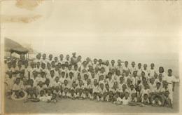 """5481"""" RICORDO DELLA COLONIA ESTIVA A FINALMARINA NEL 1935 """" FOTO-CARTOLINA ORIGINALE - Persone Anonimi"""