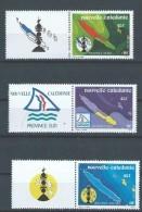 """Nle-Caledonie YT 611 à 613 Vignette """" Les 3 Provinces """" 1991 Neuf** - Usati"""