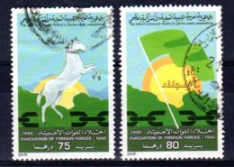 7.10.1992; 22. Jahrestag Des Abzuges Fremder Truppen; Mi-Nr. 1946 + 1947, Gestempelt. Los 51780 - Libia