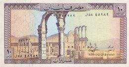 Lebanon 10 Livres, P-63f (1986) - UNC - Libanon