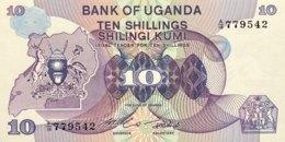 Uganda 10 Shillings, P-16 (1982) - UNC - Uganda