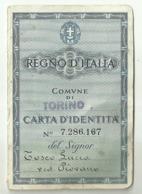 """5484"""" REGNO D'ITALIA-COMUNE DI TORINO-CARTA D'IDENTITA'  """"  ORIGINALE - Documenti Storici"""