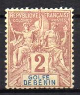 Col17  Colonie Benin N° 21 Neuf X MH Cote 8,00€ - Bénin (1892-1894)