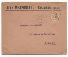 MAROC - 1917 - MOUCHON Sur ENVELOPPE COMMERCIALE De CASABLANCA => PARIS - Briefe U. Dokumente