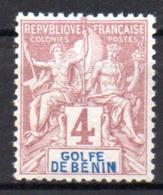 Col17  Colonie Benin N° 22 Neuf X MH Cote 8,00€ - Unused Stamps