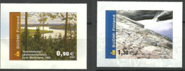 Finland 2002 Sceneries,  Kymi River (detail); Paintings By Victor Westerholm, Granite Rocks, Mi  1605-1606, MNH(**) - Finlande