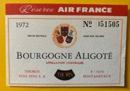 11901 - Bourgogne Aligoté 1972 Réserve Air France - Bourgogne
