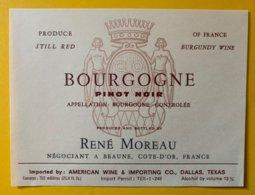 11903 - Bourgogne Pinot Noir René Moreau - Bourgogne