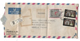 Afghanistan Registered Airmail 1973 Red Crescent 1974 Arch Of Paghman And Independence Memorial Postal History Cover - Afganistán