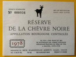11906 -  Bourgogne Réserve De La Chèvre Noire 1978 - Bourgogne